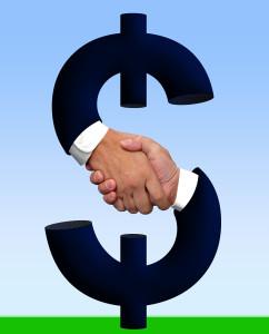 Handshake money