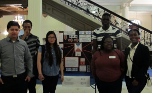 De'Anthony Robinson and his classmates show off their award-winning research.